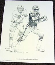 Cleveland Browns 1981 PRINT - Reggie Rucker Comes Through Wtih A Reception