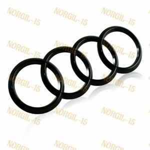 For Audi Black Rings ABS Rear Trunk A1 A3 A4 S4 A5 S5 A6 S6 Back Badge Emblem