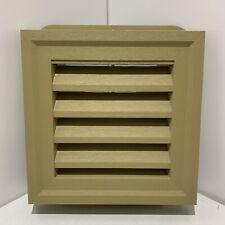 "14""x14"" Gable Louver Vent Autumn Gold Rectangular PVC Weather Filter PlyGem New"