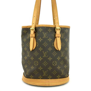 Louis Vuitton Monogram Bucket PM Shoulder Bag /?62670