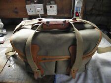 Billingham 225 Camera Bag - Khaki Canvas/Tan Leather Trim - Excellent condition