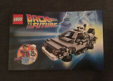 LEGO RITORNO AL FUTURO 21103 manuale di istruzioni solo condizioni eccellenti