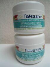 lot de 2 Masques capillaire NATESSANCE ricin et kératine végétale 2X200ML