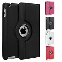 360 Degree Rotating Stand Case Cover For Apple ipad 2/3/4. 9.7 2017, Mini, Air 2