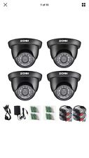 ZOSI 4PK 720p 4in1 Outdoor CCTV Security Camera 3.6mm Lens 65ft Day Night Vision