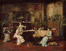 Mihaly Munkacsy The Music Room Giclee Art Paper Print Poster Reproduction
