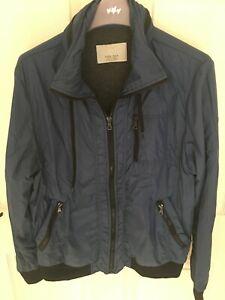 Lovely Men's Zara Man Navy Blue Jacket Size Medium