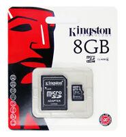 Kingston 8GB 8 GB SDC4 Micro SD HC SDHC Flash Memory Card Class 4 TF