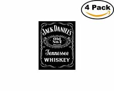 Jack Daniels 4 Stickers 4X4 inches Sticker Decal