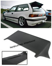 For 88-91 Honda Civic EF9 Hatch 3Dr J Style Rear Roof Spoiler Wing Lip Kit JDM
