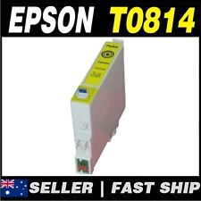 1x Yellow T0814 81N Compatible Ink for PRINTER Stylus Photo R290 R390 RX590 RX61