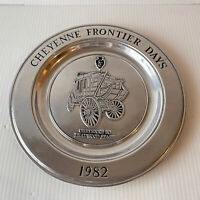 Cheyenne Frontier Days 1982 Pewter Plate Stage Coach Wilton RWP Columbia USA