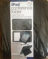 4 x- Leather Conference folder,with detachable ipad case /stand