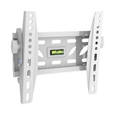 Slim Fitting Adjustable Tilting White TV Wall Bracket fits 19 - 40 Extra Strong