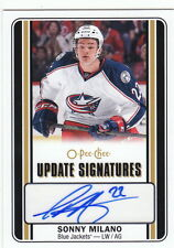 16/17 O-Pee-Chee Update Signatures Autograph Auto Sonny Milano #SM Blue Jackets