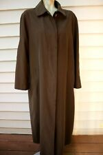 SANYO NEW YORK Woman's Rain Trench Coat Jacket -  Size S/M -Brown - Packable
