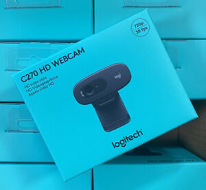 Logitech C270 HD Webcam - Camera, Facetime, Zoom, Teams, Work From Home, USB