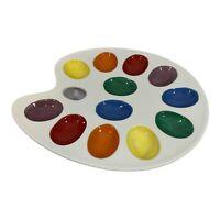 Enesco ARTIST Painter PALETTE DEVILED EGG DISH Plate/Tray MULTI-COLORED Holds 12