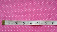 Spot Fabric Essential Dots fat quarters 100% cotton cream spot on Pink Moda 8654