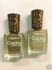 2 X Sally Hansen Crackle Overcoat Nail Polish # 06 Antique Gold New.