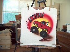 MONSTER TRUCK Airbrushed T-Shirt Sizes Baby Toddler Youth Adult Plus to 6X