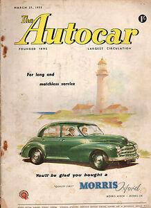 1953 Autocar March 27 - Jaguar MK VII performance review; Riley, Spain,Portugal