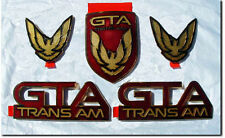 NEW 87-90 GTA Trans Am Emblem 5pc Set (FLAME RED)