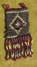 Pendentif Perles 8x3,5cm 10g Bijoux Collier 100% Artisanat Inde Tha-in-daga 5