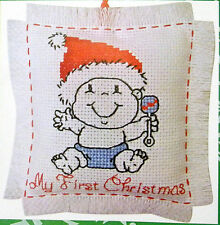 Baby - My First Christmas -decoration -Semco easy-to-do counted cross-stitch kit