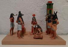 Mini Diorama del Prado  Egypte  Scène Royale Pharaon Reine & Grand Conseil