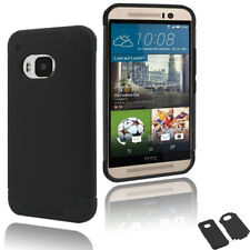 For HTC One M9 Hybrid Impact Armor Rugged Rubber Hard Back Case Dual Layer Cover