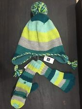 Gap Girls Hat Scarf Mittens Gloves Small Medium 4 5 6 7 ski New kids