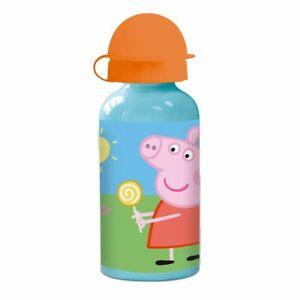 Alu-Trinkflasche   400 ml   Peppa Wutz   Peppa Pig   Sport-Aluminium-Flasche