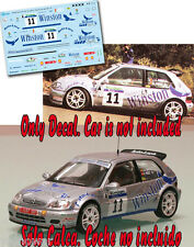 Decal 1:43 Jose Antonio Torres CITROEN SAXO KIT CAR Rally El Corte Ingles 2002