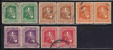 Philippines Year 1937 Scott 425-30 Used Block of 2 Stamps