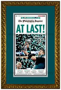 Philadelphia Eagles Super Bowl Champions Deluxe Matted & Framed Newspaper Print