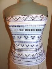 WHITE HOUSE BLACK MARKET Coco Embroidered BUSTIER Camisole Top   Size 10  NWT