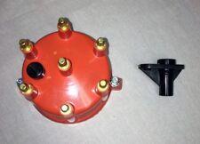 JEEP 4.0L 242 DISTRIBUTOR CAP/ROTOR KIT ORANGE / BRASS UPGRADE  - MADE IN USA