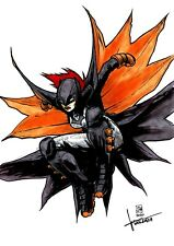 BATWOMAN Carrie Kelley original Art Sketch (DC Comics) par J.H. Wzgarda