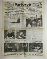 N697 La Une Du Journal Paris-soir 11 février 1934 obsèques victime 6 février
