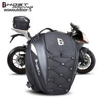 Motorcycle Tail Bag Waterproof Rear Seat Saddlebag Travel Backpack Helmet Pack