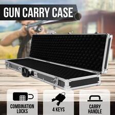 Double HARD GUN CASE SAFE RIFLE SHOTTING BOX ALUMINIUM FRAME Hunting Lock