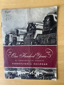 Pennsylvania Railroad One Hundred Year Anniversary Booklet 1946