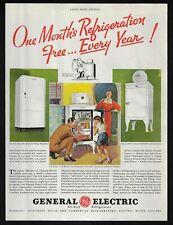 GE General Electric refrigerator kitchen art appliance 155 1935 Vintage Print Ad
