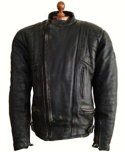 Leather BELSTAFF Motorcycle Biker Bike Cafe Racer Brando Perfecto Jacket Coat XL