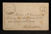 Georgia: Marietta 1850s Stampless Cover, Black CDS & Circled PAID 3