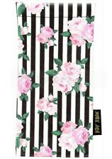 Betsey Johnson Womens Sunglass Eyeglass Pouch Case Floral And Stripe New