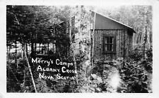 Merry's Camps Albany Cross Annapolis County Nova Scotia NS 1491 RPPC Real Photo