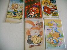 lot 5 cartes anniversaire neuves + enveloppes sous sachet plastique - lot 5