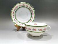 Antique C.T. Germany Carl Tielsch Altwasser Hand Painted Tea Cup & Saucer Set